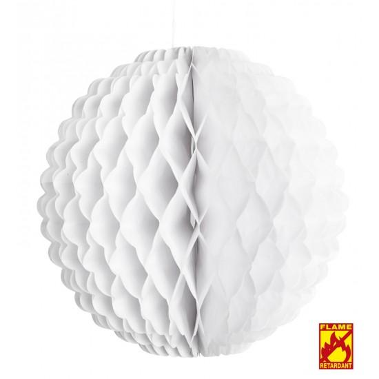 Χάρτινη Διακοσμητική Μπάλα Λευκή Φ32cm