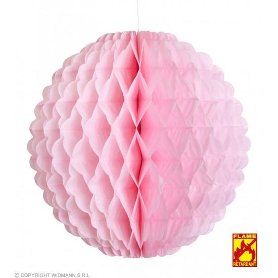 Χάρτινη Διακοσμητική Μπάλα Ροζ Φ32cm