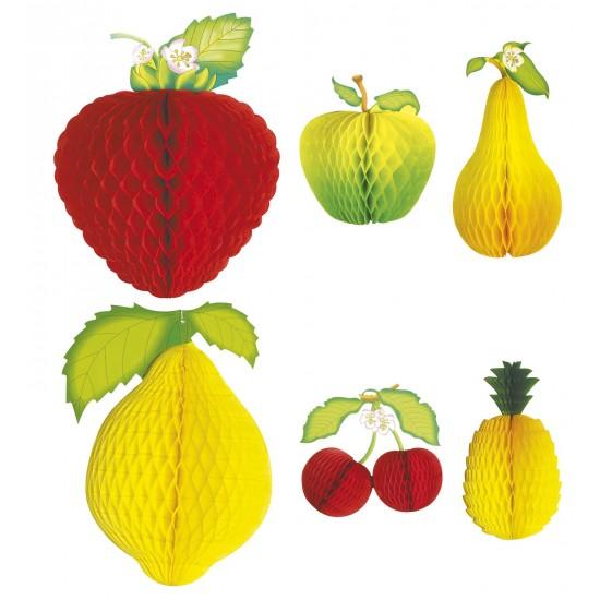 Σετ από 2τεμ Χάρτινα Διακοσμητικά Φρούτα 20cm