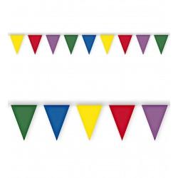 Γυρλάντα Πλαστική Σημαιάκια 10m