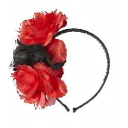 Στέκα με Μαύρα-Κόκκινα τριαντάφυλλα glitter