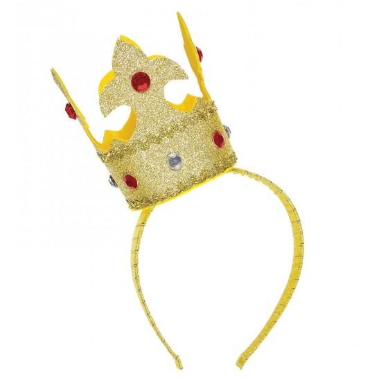 Στέκα Χρυσό Στέμμα με πετράδια και glitter