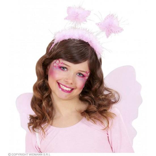 Στέκα με Ροζ Πεταλούδες και μαραμπού