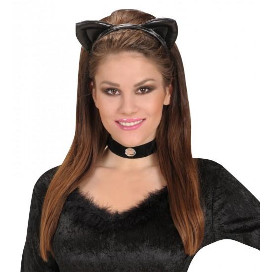 Στέκα Αυτάκια Γάτας δερματίνη