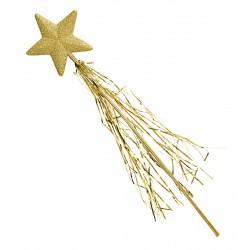 Ραβδάκι Νεράϊδας Χρυσό με τίνσελ