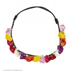 Στεφάνι με Πολύχρωμα Λουλούδια