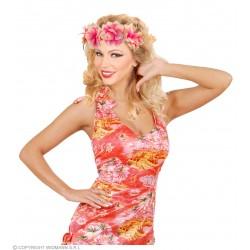 Στεφάνι με Μεγάλα Λουλούδια λάστιχο