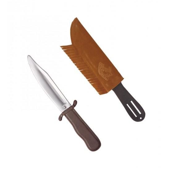 Μαχαίρι με Θήκη Σουέτ με Κρόσια 28cm