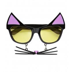 Αποκριάτικα Γυαλιά με αυτάκια και μουστάκι Γάτας