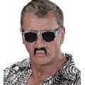 Αποκριάτικα Γυαλιά Ζέμπρα με μουστάκι