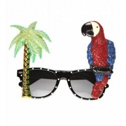 Αποκριάτικα Γυαλιά Τροπικά με παπαγάλο και φοίνικα