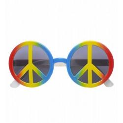 Αποκριάτικα Γυαλιά πολύχρωμα με σήμα ειρήνης