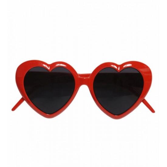 Αποκριάτικα Γυαλιά Κόκκινες Καρδούλες