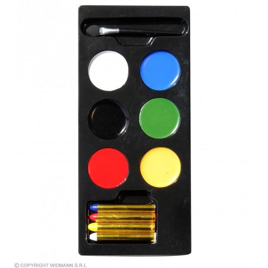 Make up Παλέτα με 6 Χρώματα πινελάκι