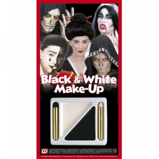 Ασπρόμαυρο Make up Σετ 2 Μολυβάκια 2 Βαζάκια 4012B