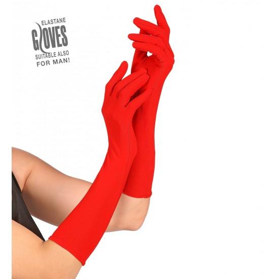 Γάντια Κόκκινα Ελαστικά 37cm W1442R