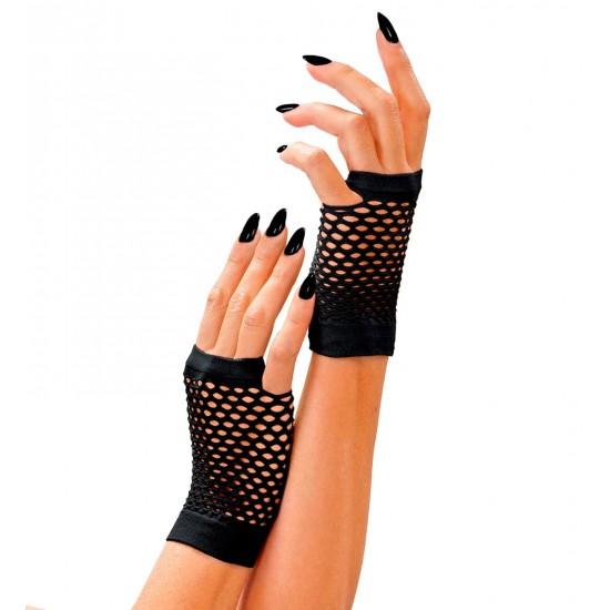 Γάντια Μαύρα χωρίς δάχτυλα διχτυωτά W1487K