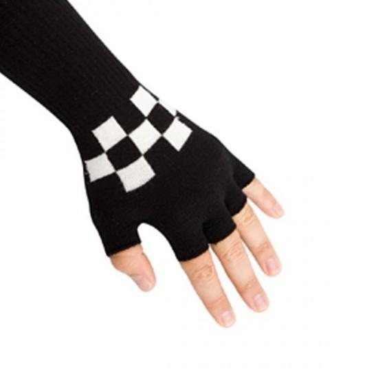 Γάντια μάλλινα Σκακιέρα κομμένα