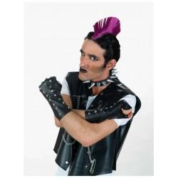 Γάντια Punk μακρυά Δερματίνη κομμένα με καρφιά