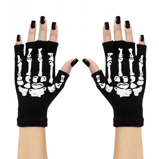 Γάντια μάλλινα με κόκκαλα κομμένα W95703
