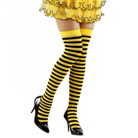 Κάλτσες ριγέ κίτρινο-μαύρο