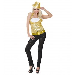 Ζώνη Χρυσή Glitter