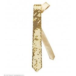 Γραβάτα Χρυσή με Παγιέτες W9062G