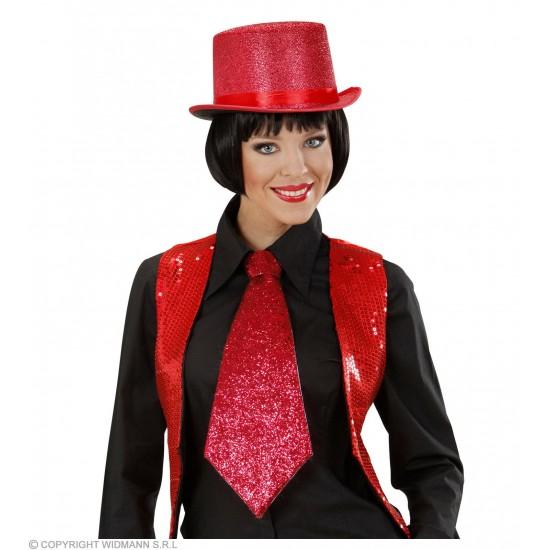 Γραβάτα Κόκκινη Glitter W9365R
