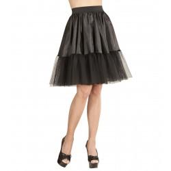 Φούστα Μαύρη Υφασμάτινη με Τούλι
