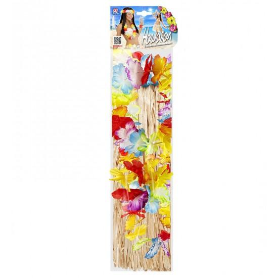 Χαβανέζικο σετ Φούστα με λουλούδια