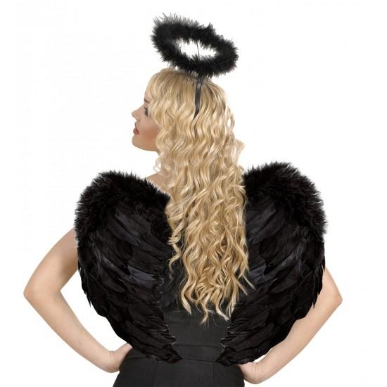 Φτερά Μαύρα πουπουλένια 37x50cm