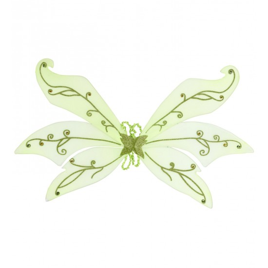 Φτερά Ξωτικού Πράσινα με Πετράδια 124x76cm