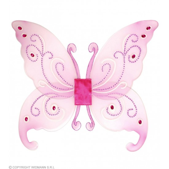 Φτερά Νεράϊδας Ροζ με Πετράδια 66x55cm