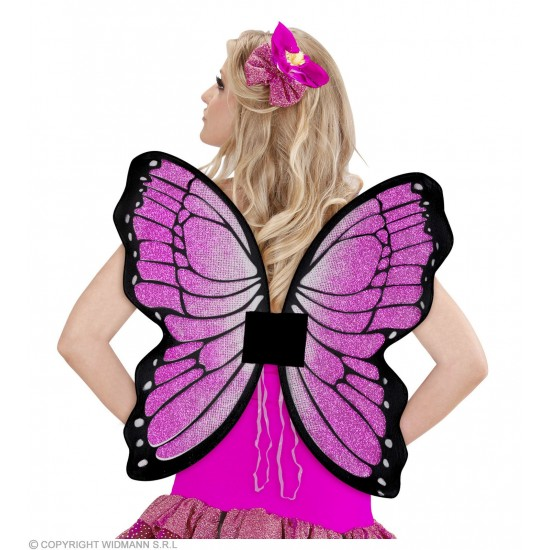 Φτερά Πεταλούδας Μωβ με Glitter 50x50cm