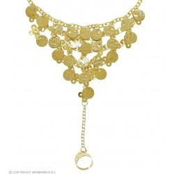 Βραχιόλι με Χρυσά Φλουριά και Δαχτυλίδι W24370