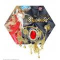 Βραχιόλι με Χρυσά Φλουριά, Κόκκινο Πετράδι και Δαχτυλίδι W24371
