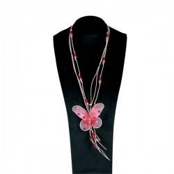 Κολιέ Ροζ Νεράϊδας Πεταλούδας