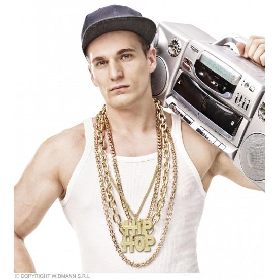 Κολιέ Χρυσό Hip Hop