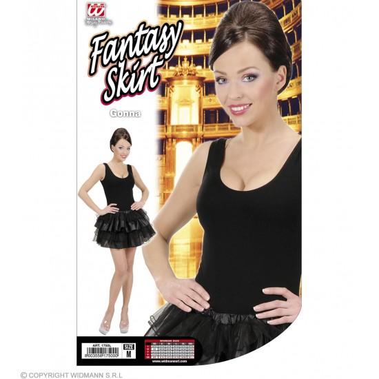 Φούστα Τούτου μαύρη με Πιέτες