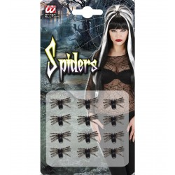 Σετ από 12 Μαύρες Αράχνες  2cm