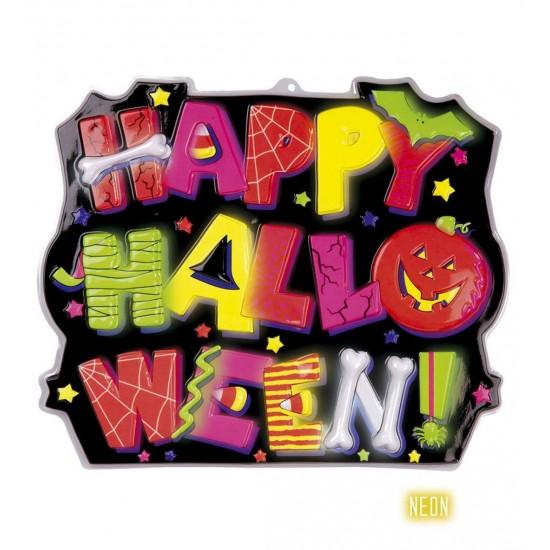 Αφίσα Happy Halloween 3D neon 45x53cm