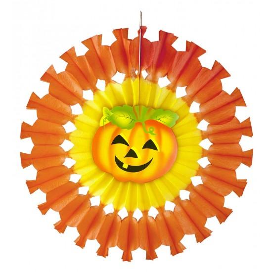 Διακοσμητικό Halloween ήλιος με κολοκύθα 48cm