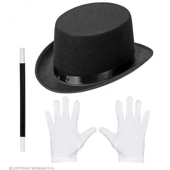 Σετ Μάγου Καπέλο Γάντια Ραβδί