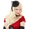 Καπέλο με Μαύρο Τριαντάφυλλο Μίνι