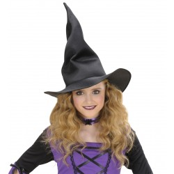 Καπέλο Μάγισσας Μαύρο Λυγιζόμενο