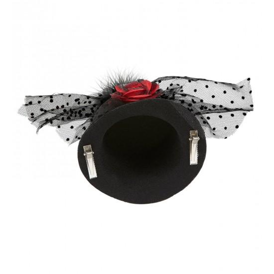 Καπέλο με Τριαντάφυλλο και Τούλι Mini