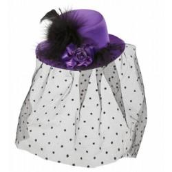 Καπέλο Μωβ με Βέλο Mini
