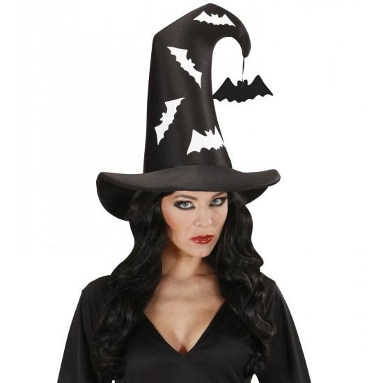 Καπέλο Μαγισσας-Μάγου με Νυχτερίδες