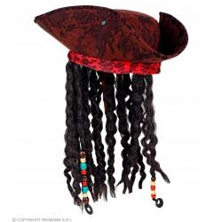 Καπέλο Πειρατικό με Μαλλιά Deluxe