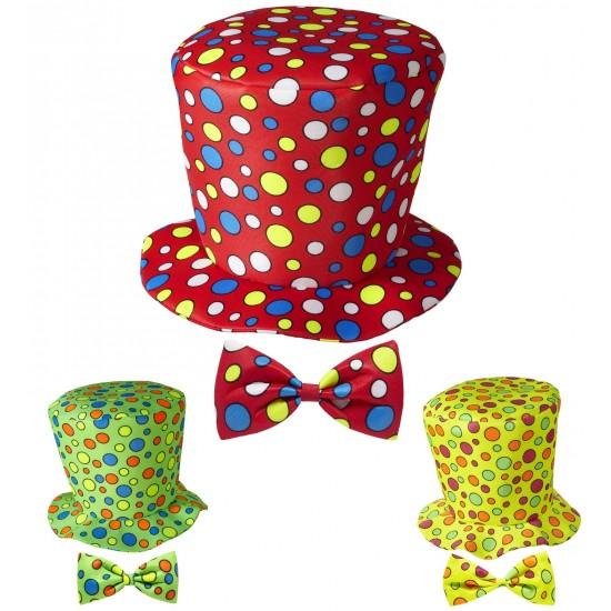 Καπέλο Κλόουν και Παπιγιόν 3 χρ.